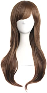 "MapofBeauty 28"" 70cm Long Curly Hair Ends Costume Cosplay Wig (Brown Camel)"
