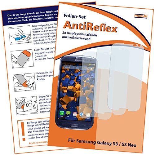 mumbi Schutzfolie kompatibel mit Samsung Galaxy S3 Folie, Galaxy S3 Neo Folie matt, Bildschirmschutzfolie (3X)