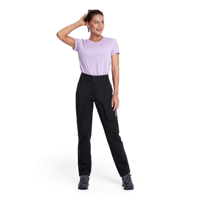 Gonex Femme Pantalon de Randonnée, Zip-Off-Pantalon de Trekking Femme, Pantalon Respirant à séchage Rapide et léger pour la randonnée, Le Camping, la Vie Quotidienne