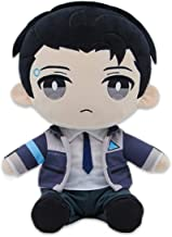COSFLY Become Human RK800 Connor Plush Toy Stuffed Doll Cosplay Prop Gift (Blue)