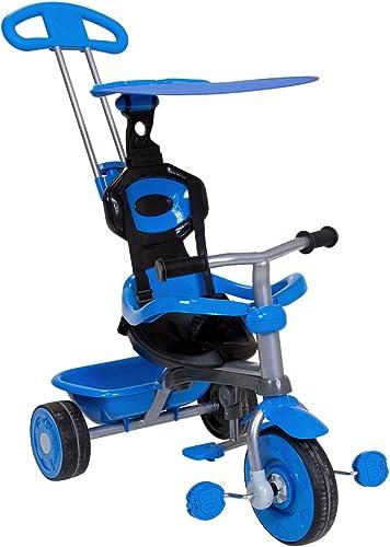 Charles Bentley Kinder Dreirad 3 in 1 - mit Sonnendach & Schubstange - in Blau