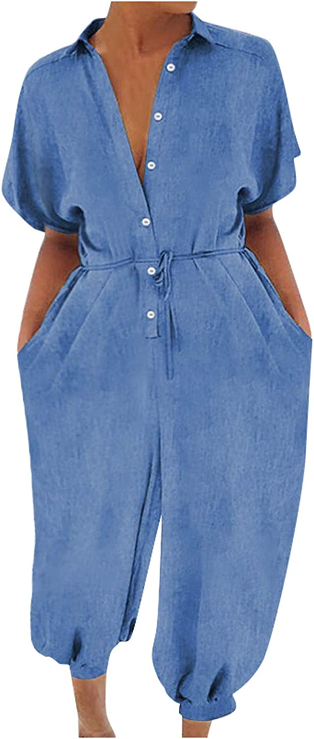 Women Plus Size Overalls Sales Casual Romper Dungarees Pla Loose Portland Mall Baggy