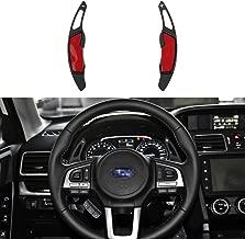 CKE Aluminum Steering Wheel Paddle Shifter Extension For Subaru Forester Outback XV BRZ WRX Impreza Crosstrek Legacy Toyota GT86 - Black