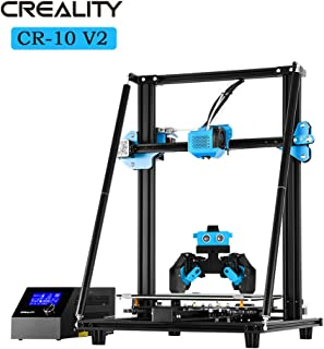 Creality CR-10 V2 3D Printer All Metal Frame BL-Touch Auto Manual Leveling Ultra-Mute Drive Two-Way Convertible Cooling Nozzle Filament Monitor for Hobbyists and Home Users