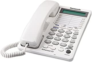 PANASONIC KX-TS208W Integrated Corded Telephone System with Hearing Aid Compatibility & 16-Digit LCD (2-Line System)