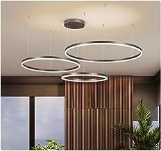 Lampa wisząca LED, do jadalni, do salonu, przyciemniana, z pilotem zdalnego sterowania, nowoczesny żyrandol, okrągły, z al...