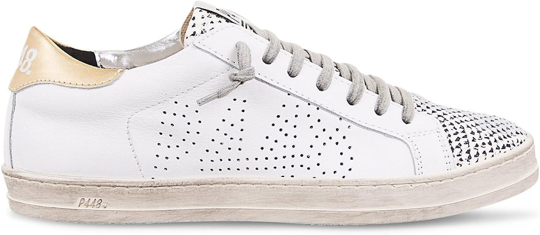 P448 Kvinnlig John Italiensk Läder Python  Platinum skor skor skor  på billigt