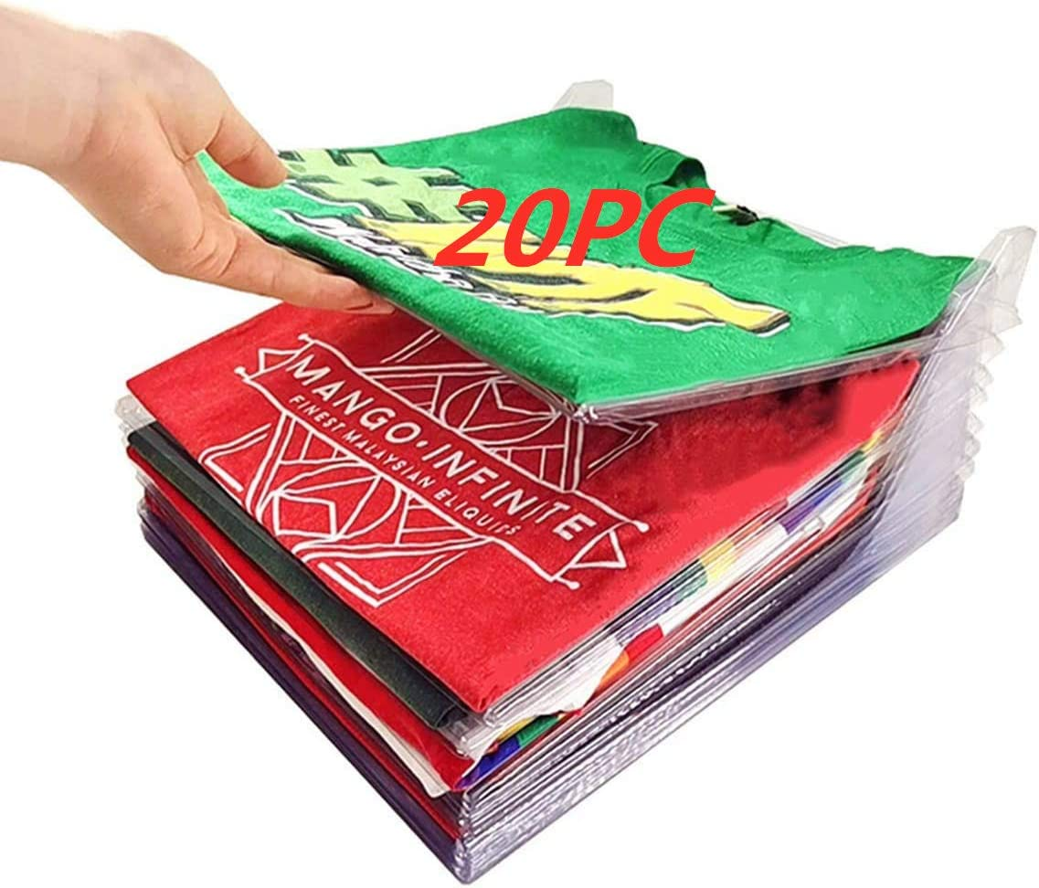 Nifogo Organizador De Vestuario, Bolsa De Almacenamiento De Guardarropa, Camiseta Carpeta Sistema Antiarrugas De La Camiseta, Tamaño Normal
