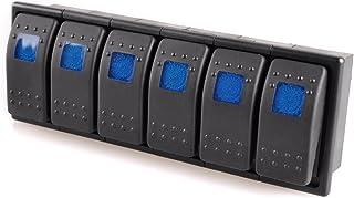 12V On/Off Blue Light Rocker Switch Set for Carling Boat Car