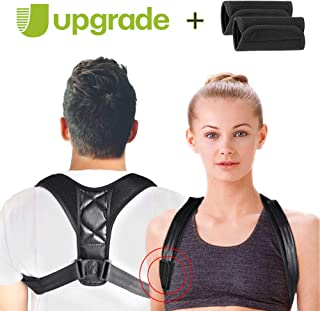 Posture Corrector for Men Women, Adjustable Upper Posture Back Brace Support Clavicle Comfortable Posture Correct for Kyphosis with Armpit Protectors