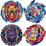 HUXICUI 4 Pieces Bey Battle Burst Gyro Attack Blades Metal, High Performance Battling Top Burst Battle Toys Set, Birthday Party Best Toys Gifts for Boys Kids Children Age 8+