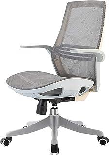 Sillas de escritorio de oficina Silla de oficina, silla de trabajo giratoria para computadora de oficina de malla con respaldo medio, silla ejecutiva ergonómica ajustable con brazos abatibles Sillas