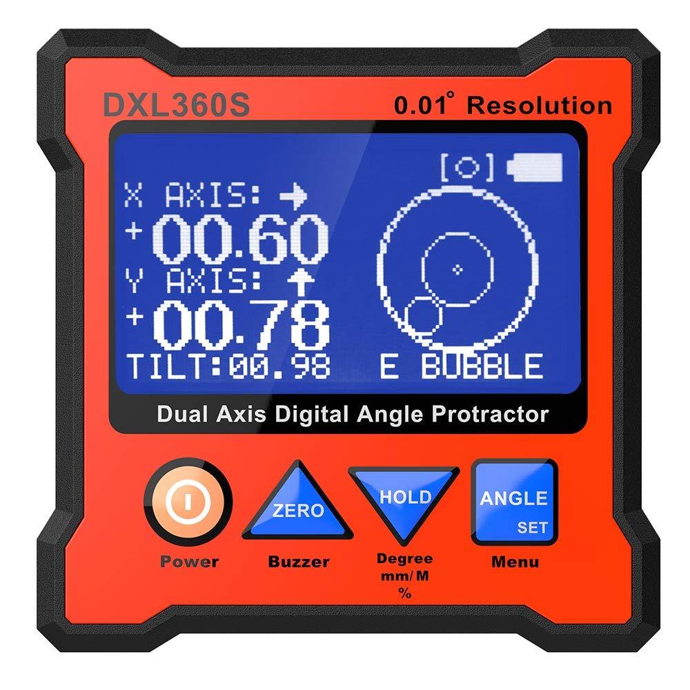 Digital Protractor DXL360S Inclinometer 0 01%C2%B0resolution