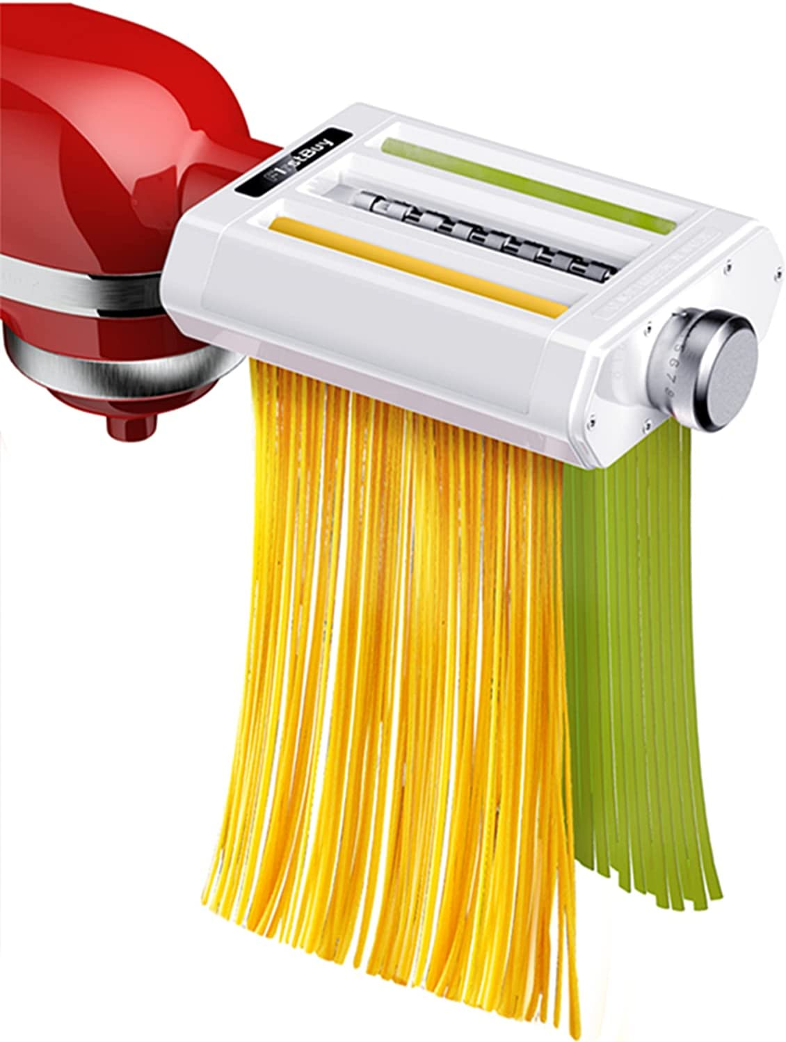 FirstBuy Pasta Maker Attachment for Kitchenaid Stand Mixers, 3 i