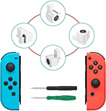 Latch Replacement For Nintendo Switch NS Joy Con with Screwdrivers, iKNOWTECH Metal Lock Buckles Repair Tools Kit for Nintendo Switch NS Joy Con with Screwdrivers