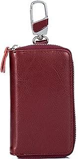 Portamonete Rosso Borsa d/'Identità Carte GUSCIO cartella LEAS in vera pelle-