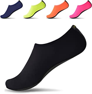 JACKSHIBO Men Women Quick-Dry Water Skin Shoes Aqua Socks for Water Sports Swim Surf Yoga Exercice Beach