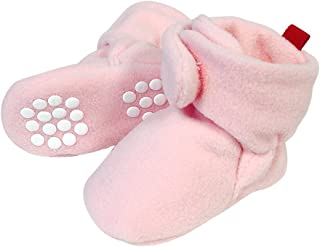 Wrapables Fleece Baby Booties with Anti-Skid Bottoms Pink 0-6 M
