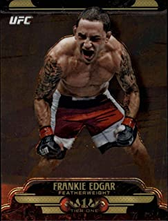 2017 Topps Chrome Tier 1 UFC #UT-FE Frankie Edgar Official MMA Trading Card (Scan streaks are NOT on the card itself)