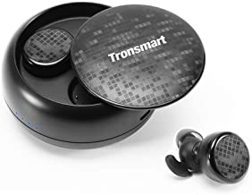 Wireless Earbuds, Tronsmart Spunky Bluetooth 5.0 IPX5 Waterproof True Wireless Bluetooth Earbuds 12H Playtime with Charging Case and Microphone Compatible with All Bluetooth Devices - Black