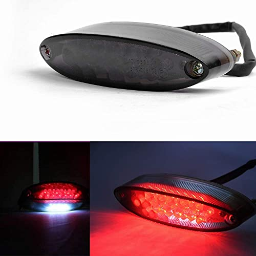 Evomosa Universal 28 LEDs Motorcycle LTZ ATV Tail Light and License Plate Holder with Turn Signals