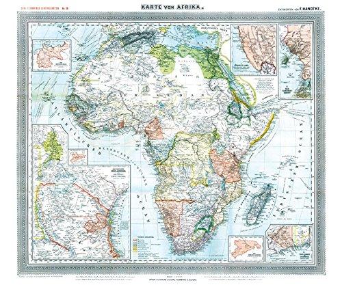 General-Karte von AFRIKA, 1890 [gerollt]: Flemmings Generalkarte, No. 38. Historische Karte mit den Kolonien und Schutzgebiete des Deutschen ... Deutsch-Witu, Deutsch-Somaliküste