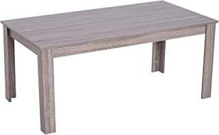 "HOMCOM 43"" Wood Rectangular Parsons Coffee Table Living Room Desk Furniture,Wood Grain"