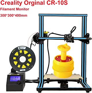 Creality CR-10S 3D Printer Large Printing Size 300x300x400mm 1.75mm 0.4mm Nozzle DIY Self-Assembly Desktop 3D Printer Kits Filament Monitor and Dual Z Axis