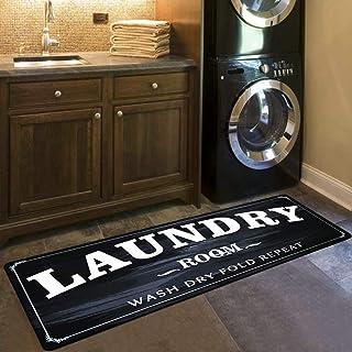 USTIDE Tapis de buanderie en caoutchouc antidérapant pour salle de bain, cuisine, salle de bain, couloir 50,8 x 150,9 cm
