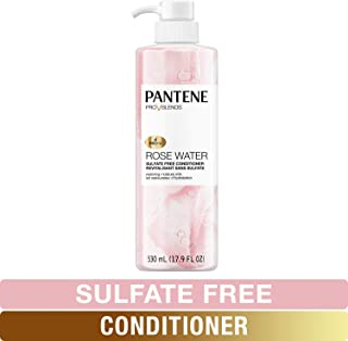 Pantene Sulfate Free Conditioner, Paraben and Dye Free, Pro-V Blends Soothing Rose Water, 17.9 fl oz