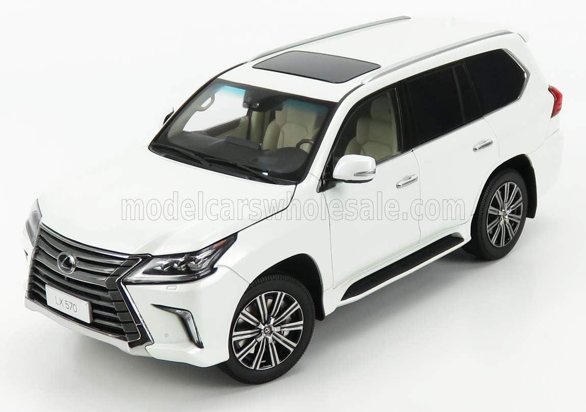 Lexus マーケット LX570 Sonic Quartz 正規激安 White 1 Diecast Model 18 by Car Kyosho