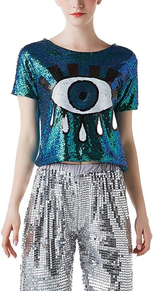 YonCog Sequins Jazz Dancing T-Shirt 35% OFF Women's Hip Sequi Hop All items free shipping Street