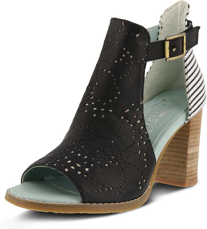 L'Artist av Springaa Step Woherrar Style Lashon s svart Multi Multi Multi EURO Storlek 42 läder Sandal  bästa valet