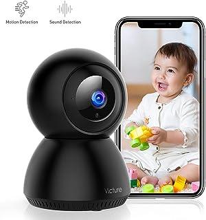 Victure 1080P Cámara IP WiFiCámara de Vigilancia FHD con Visión NocturnaDetección de MovimientoAudio bidireccional 2.4GHz WiFiCompatible con iOS/Android