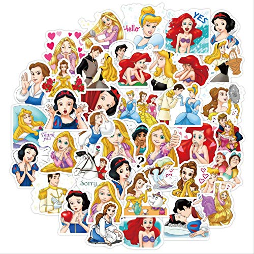 WOCAO Sticker Toy Donald Duck Minnie Stitch Disney Princess Cute Cartoon Sticker Luggage Guitar Notebook Graffiti Sticker 40Pcs