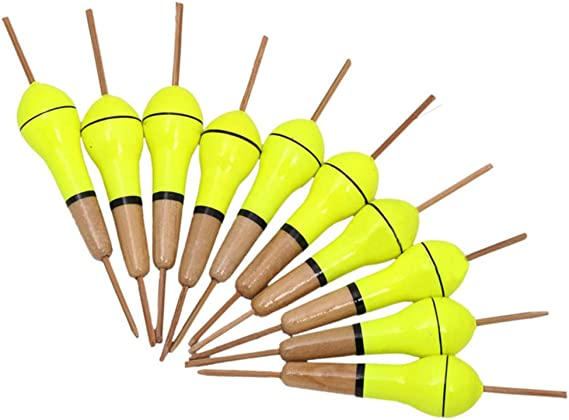 Handmade Nordic Leatherworks and Crafts. One of a Kind Tackle Glow in the Dark Traditional Fishing Float Wooden Bobber