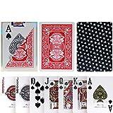 TX GIRL Juego De Tarjetas De Plástico Impermeable De PVC Texas Hold'em 2 Esmerilado Lateral Antideslizante Poker Club Palabra Grande del Póker del Casino Juego De Mesa Red - 1 Cubierta