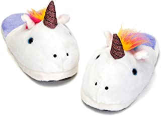Bits and Pieces - Plush Unicorn Slippers - Warm Women's Novelty Footwear