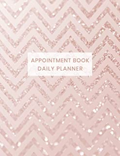 Appointment Book Daily Planner: Undated Schedule Organizer Notebook for Hair Stylist or Salon with Weekly Layout Showing Daily and Hourly Times Spaced ... Rose Pink Chevron Design (Keeping Organized)