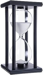 hourglass sand timers (White sand,black frame,60min)