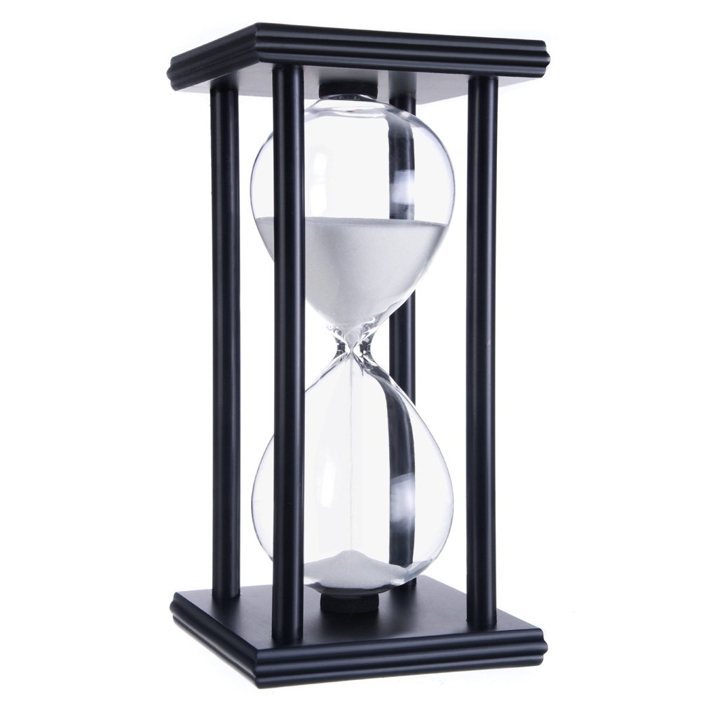 hourglass timers White black frame
