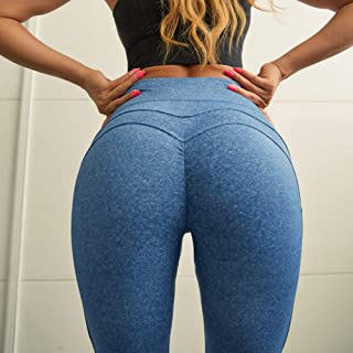 Beiziml Cutout Waist Yoga Pants for Women Gym Booty Shape Push Up Fitness Workout Tights 4 Way Stretch High Waist Sport Le...