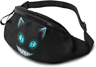 Dujiea Fanny Pack, Cheshire Cat Waist Bag with Headphone Hole Belt Bag Adjustable Sling Pocket Fashion Hip Bum Bag for Wom...