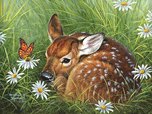 DIY 5D diamante pintura mosaico hierba ciervo punto de cruz cristal diamantes de imitación bordado artesanía para adultos niños decoración del hogar regalo 40X50Cm