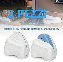 2PCS Emilyysky Leg Memory Foam Cushion Pillow Back Hip Legs Knee Support Nerve Pressure Relief