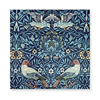 INOV アールヌーボー ティール ウィリアム・モリス スタイル シックな花柄 絵画 フレーム装飾画 キャンバスアート アートパネル 壁画 壁掛け 絵 アート 版画 壁飾り ポスター 40x40cm