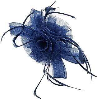 Fascinators Hat Flower Mesh Feathers Headband Clip Tea Party Headwear for Girls and Women