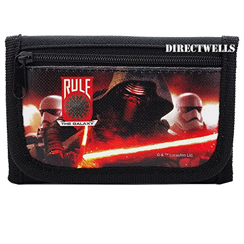Disney Star Wars Characters Authentic Licensed Children Trifold Wallet (Black)