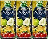 カゴメ 野菜生活100 濃厚果実 ラ・フランスミックス (リーフパック) 195ml ×3本