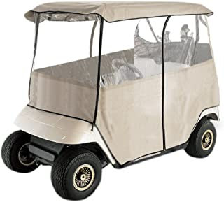 Leader Accessories Deluxe 2-Person Golf Cart Cover Storage Driving Enclosure Fit EZ Go, Club Car, Yamaha Cart